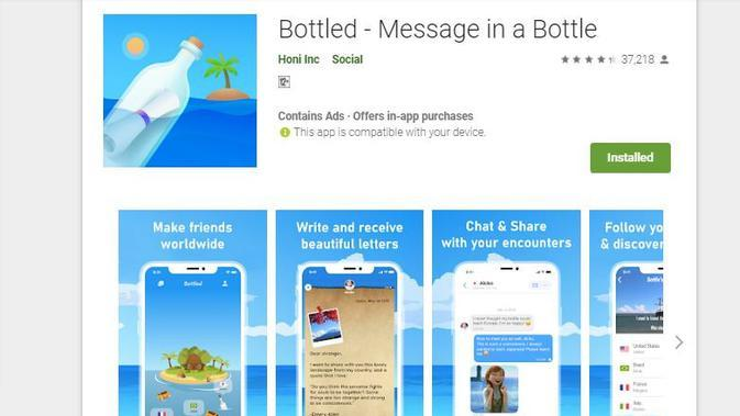 Bottled (sumber: Play Store)