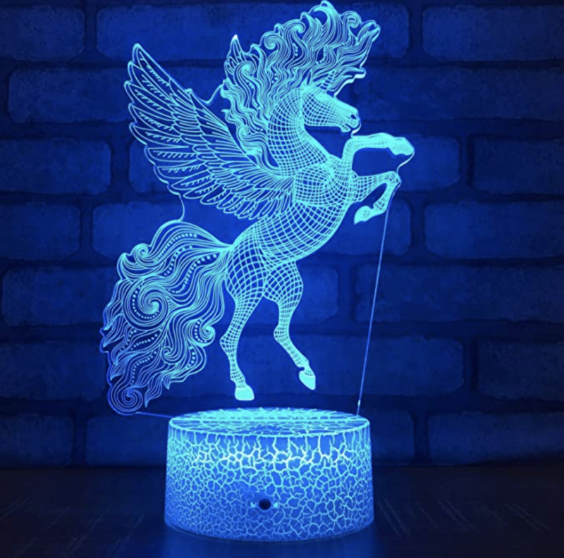3D design lamp. (PHOTO: Amazon)