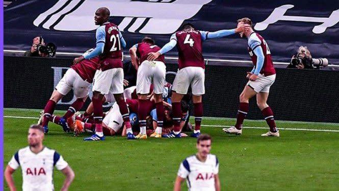 Tendangan Roket West Ham yang Bikin Tottenham Gigit Jari
