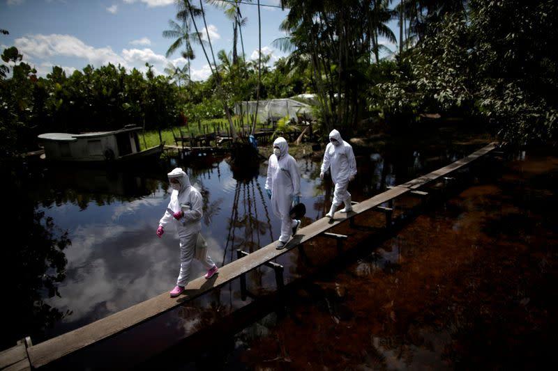 Coronavirus, spreading in Brazil's interior, threatens to 'boomerang' back to major cities