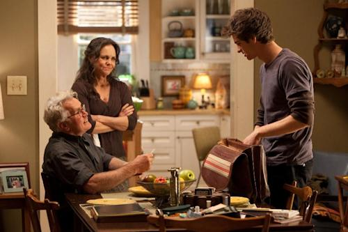 "In this film image released by Sony Pictures, from left, Martin Sheen, Sally Field and Andrew Garfiled are shown in a scene from ""The Amazing Spider-Man, set for release on July 3, 2012. (AP Photo/Columbia - Sony Pictures, Jaimie Trueblood)"
