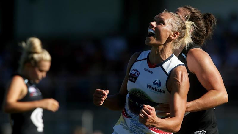 A masterclass by Erin Phillips has led Adelaide to a hard-fought AFLW win over Carlton