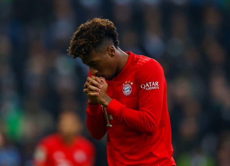 Back to training, Bayern's Coman hopes to complete season