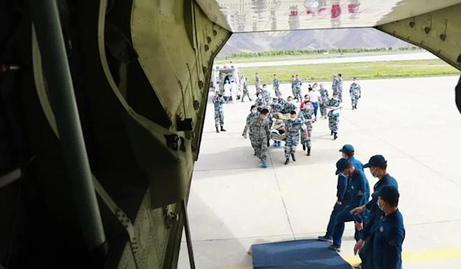 China Central Television said the Y-9 flying hospital is able to treat more than 30 wounded at the same time. Source: Handout.