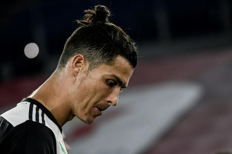 Cristiano Ronaldo after Juventus lost the Italian Cup final to Napoli