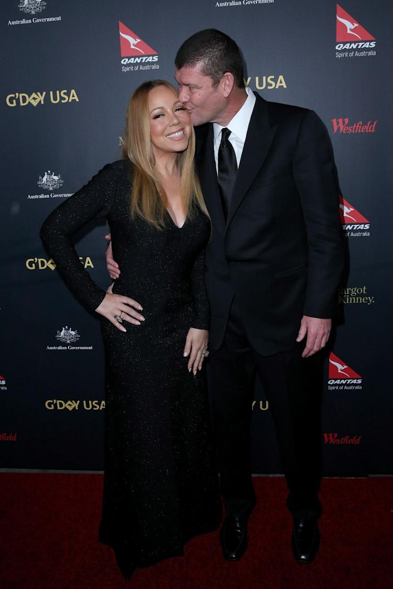 Packer says he was over $5 billion in debt when he and Carey got together. Photo: Getty