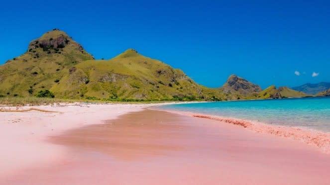 Pink Beach di Flores, NTT.
