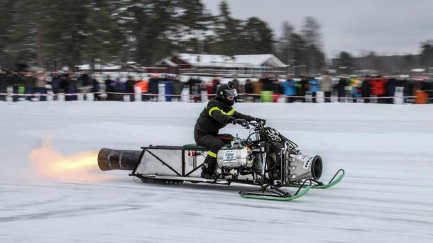 At Sweden's Speed Weekend, where jet-powered insanity hurtles across ice