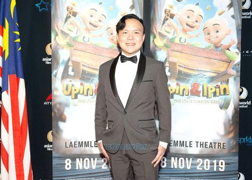 "Composer Andrew Bong at the premiere of ""Upin & Ipin: Keris Siamang Tunggal"" in Los Angeles, where the animated film was screened from 8 to 14 November (Photo source: The Borneo Post)."