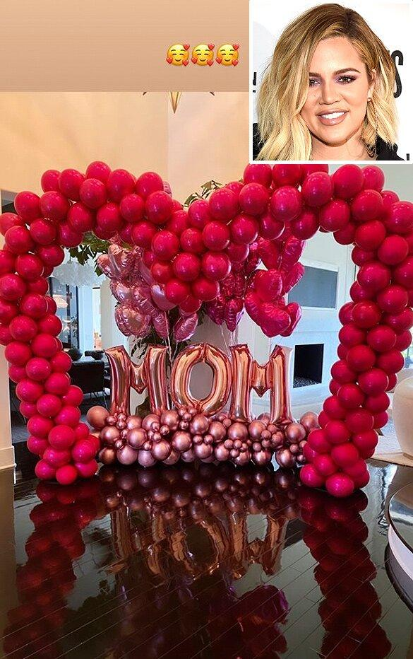 Khloé Kardashian Shares Massive Mother's Day Balloon Display She Received from Tristan Thompson