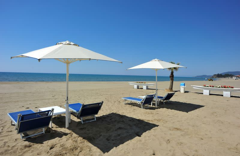 Booking apps and electronic tags? Italy's beaches seek to salvage summer
