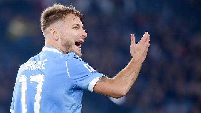 1. Ciro Immobile (Lazio) - 27 Gol (10 Penalti). (AFP/ Filippo Monteforte)