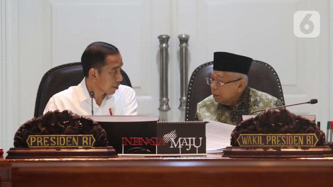 Ma'ruf Amin Silaturahmi Idul Fitri ke Jokowi secara Virtual di Tengah Pandemi Corona