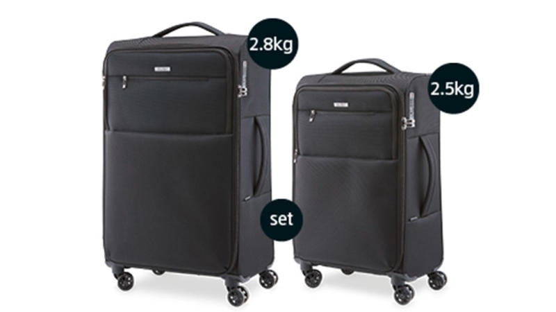 The Ultra Light Suitcase Set in black is just $90 for this Saturday's sale