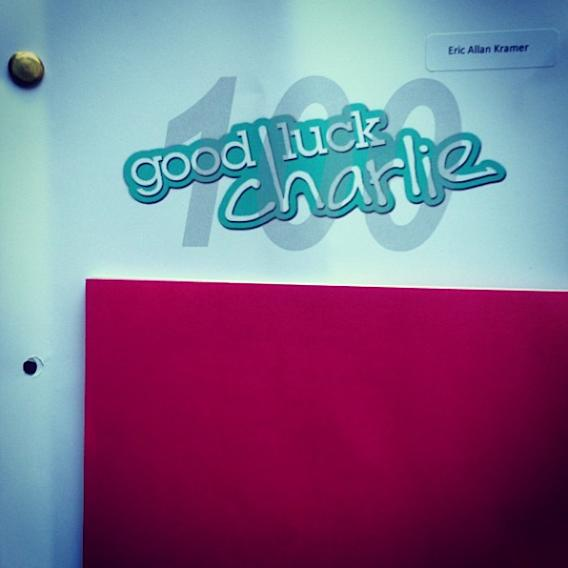 Crossing the finish line… #100, here we go… #goodluckcharlie #glc