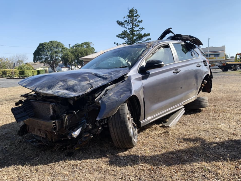 Ms Tate's car was a write-off. Source: Supplied