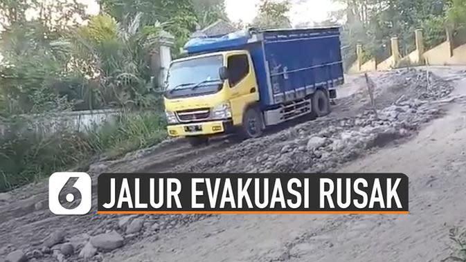 VIDEO: Viral Rusaknya Jalur Evakuasi Merapi