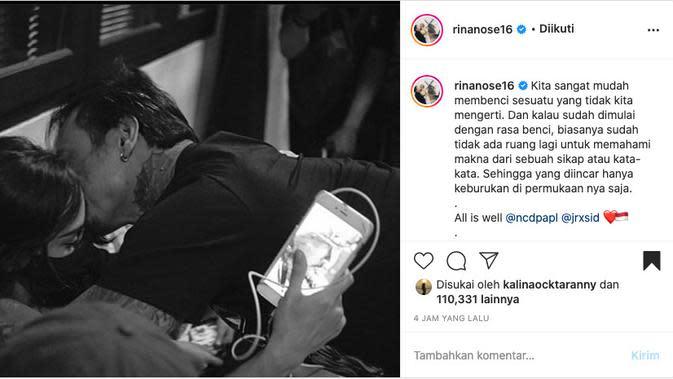 Rina Nose Unggah Potret Jerinx SID dan Nora Alexandra. (instagram.com/rinanose16)