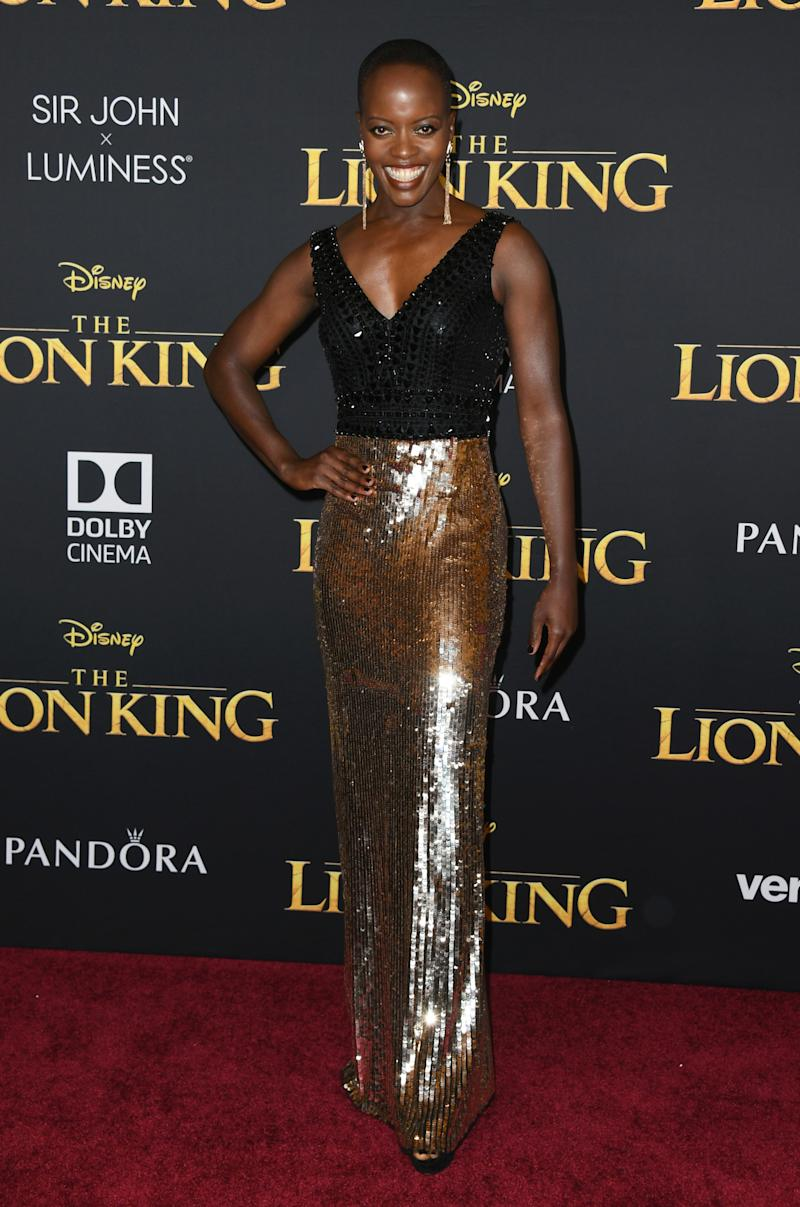 Florence Kasumba voices hyena, Chenzi in 2019's Disney The Lion King film. She also starred in Black Panther