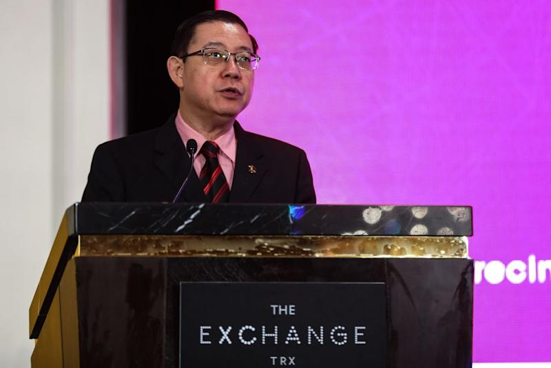 Finance Minister Lim Guan Eng speaks at the precinct launch and development financing for The Exchange at TRX City in Kuala Lumpur February 12, 2019. ― Picture by Ahmad Zamzahuri