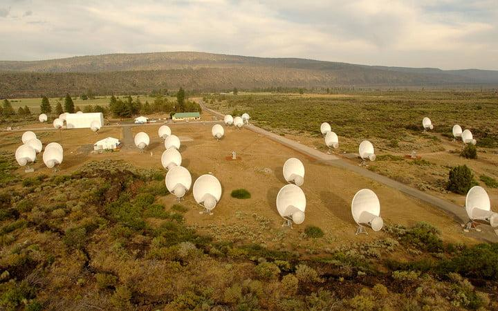 The Allen Telescope Array as seen from the air