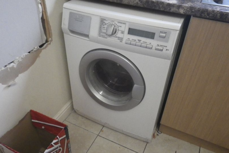 The washing machine the cat was placed inside. Source: RSPCA