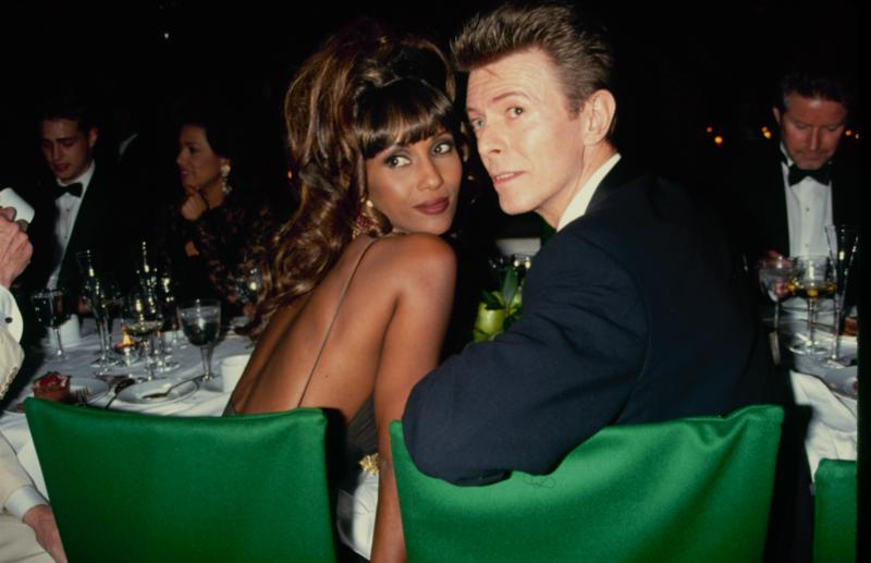 UNITED STATES: Singer and musician David Bowie with his girlfriend, supermodel Iman, circa 1993. (Photo by The LIFE Picture Collection via Getty Images)