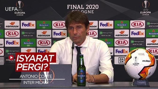 VIDEO: Usai Kalah Dari Sevilla di Liga Europa, Antonio Conte Beri Isyarat Akan Tinggalkan Inter Milan