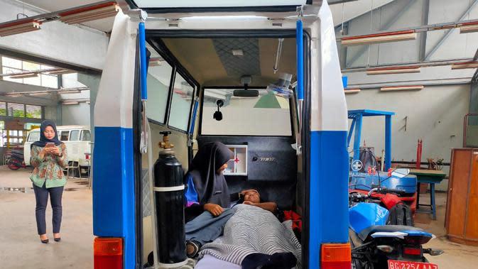 Motor Ambulans karya 8 pelajar SMKN Sumsel yang dirakit selama dua bulan (Liputan6.com / Nefri Inge)