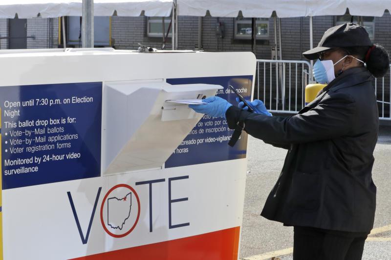 Elections 2020 Ohio Ballot Boxes