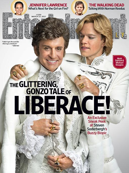 Liberace and lipstick: Matt Damon and Michael Douglas cover Entertainment Weekly covered in makeup