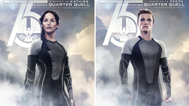 Exclusive 'Catching Fire' Posters Reveal Katniss and Peeta's New Form-Fitting Costumes