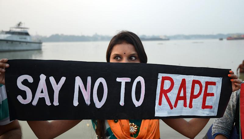 Indian activist hold a poster to staged a protest against the brutal rape and murder of 27-year-old veterinary doctor in Hyderabad, in Kolkata, India on Saturday , 30th November, 2019. The 25-year-old veterinary doctor, who works in a state-run hospital, was brutally gang raped and killed and then her body burned on the city outskirts on Thursday night allegedly by four lorry workers. (Photo by Sonali Pal Chaudhury/NurPhoto)