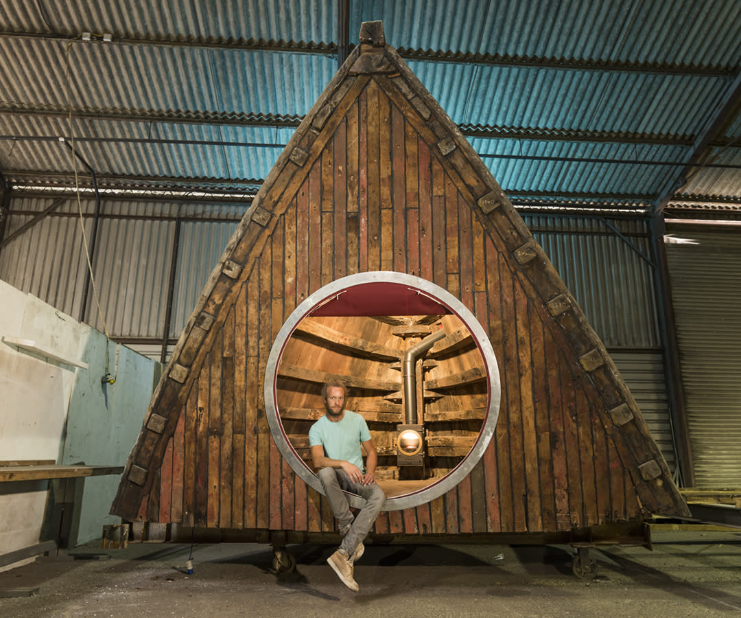 <p>UNIQUE:<br />Boat Pod – owned by Barnaby Dearsly in Exeter, Devon (Picture: Shed of the Year) </p>