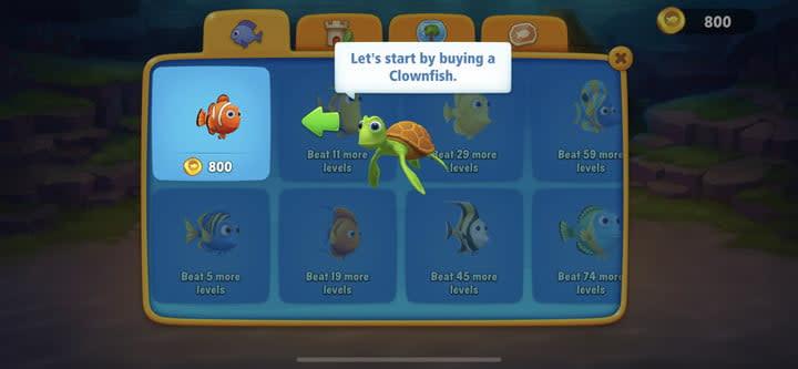 Fishdom fish screen