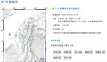 地牛翻身! 東部海域規模5.1地震 最大震度宜蘭3級