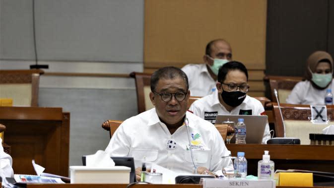 Sekretaris Jenderal Kemensos Hartono Laras.