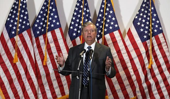 """US Senator Lindsey Graham introduced legislation that would authorise President Donald Trump to impose sanctions on China if it refuses to provide """"a full accounting of the events leading up to"""" the coronavirus outbreak. Photo: AFP"""