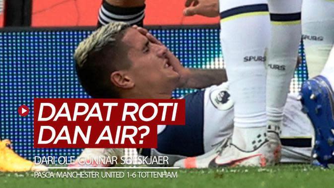 VIDEO: Erik Lamela Bakal Dapat Roti dan Air dari Manajer Manchester United, Ole Gunnar Solskjaer?
