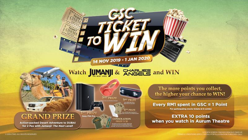 The more points moviegoers collect, the higher their chance to win. — Picture courtesy of GSC Cinemas