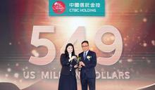 「台灣國際品牌價值調查」中信五度蟬聯台灣金融之光