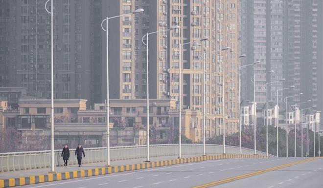 By January 28, when this photo was taken, Wuhan appeared almost deserted, after lockdown was imposed on January 23. Photo: AP