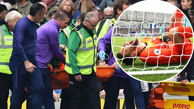 Hugo Lloris suffered the injury in Tottenham's Premier League defeat to Brighton.