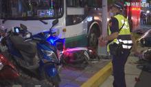 公車衝人行道1死1傷 駕駛排除過勞