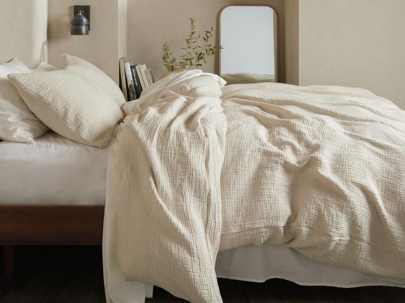 Cloud Cotton Duvet Cover Set. Image via Parachute.