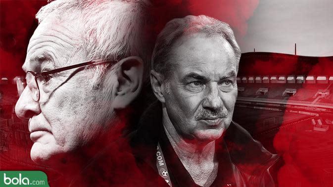 AFF_Alfred Riedl dan Claudio Ranieri (Bola.com/Adreanus Titus)