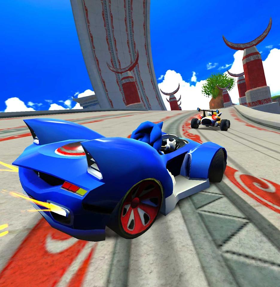 <p>Are you even a real collection of video game company mascots if you don't have your own kart racer, bro? <em>Sonic & All-Stars Racing Transformed</em> was a solid entry into the stuffed karts-characters-and-power-ups genre, with some quality whips—like MeeMee's buggy and Sonic's hedgehog-eared ride—and memorable maps (each one is an entire island suspended in the sky). Plus, the character list was hard to beat. There was Shadow the Hedgehog, Wreck-It Ralph, Sonic, of course, and… Danica Patrick? Hell yeah. <em>—B.L.</em></p>