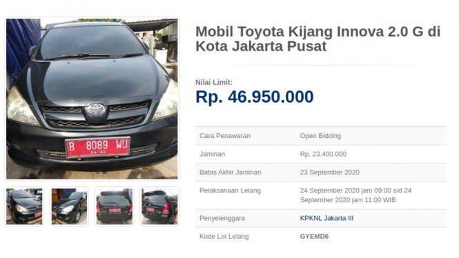Innova Rp30 Jutaan, hingga Orang Indonesia Borong Mobil Rp2 Miliar