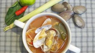 泰式香茅花蛤湯