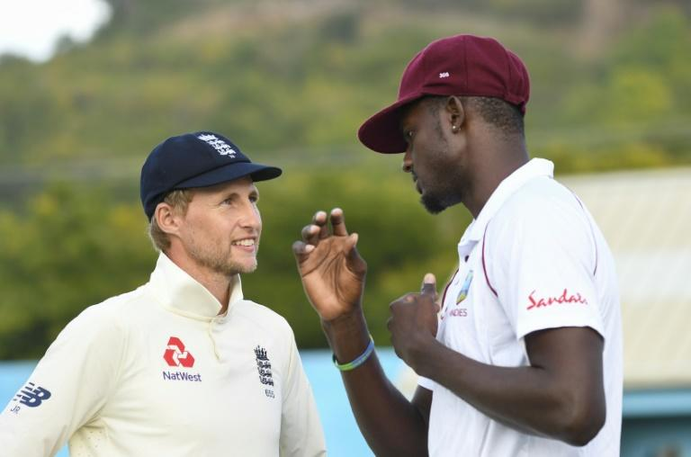 England Test captain Joe Root (left) and West Indies skipper Jason Holder